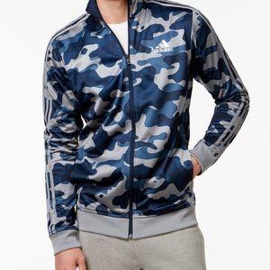Adidas Blue-Gray Camo jacket Size: Small